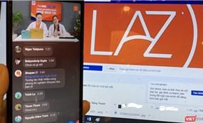 Các sàn thương mại điện tử đua nhau kiếm khách từ mạng xã hội
